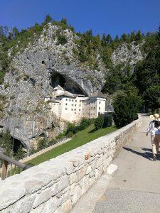 Medival Predjama Castle built into stone